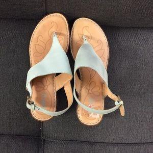 Blue born sandals